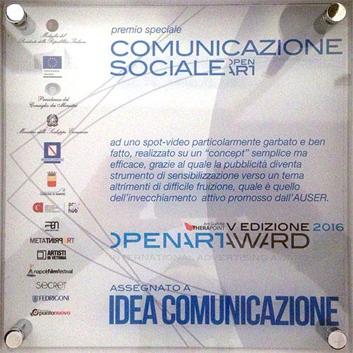 premio openartaward 2016 idea comunicazione